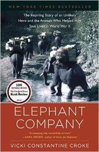 Cover of book about elephants in Burma in WWII and pre-war period